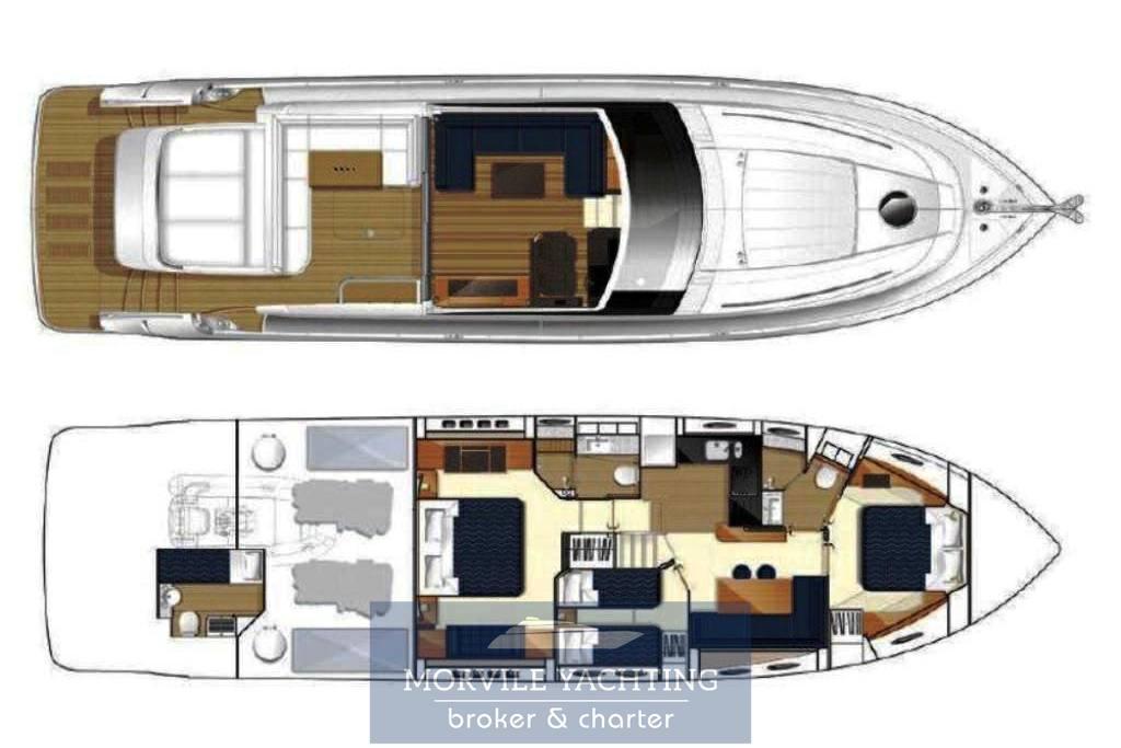 Princess V62 Barca a motore usata in vendita