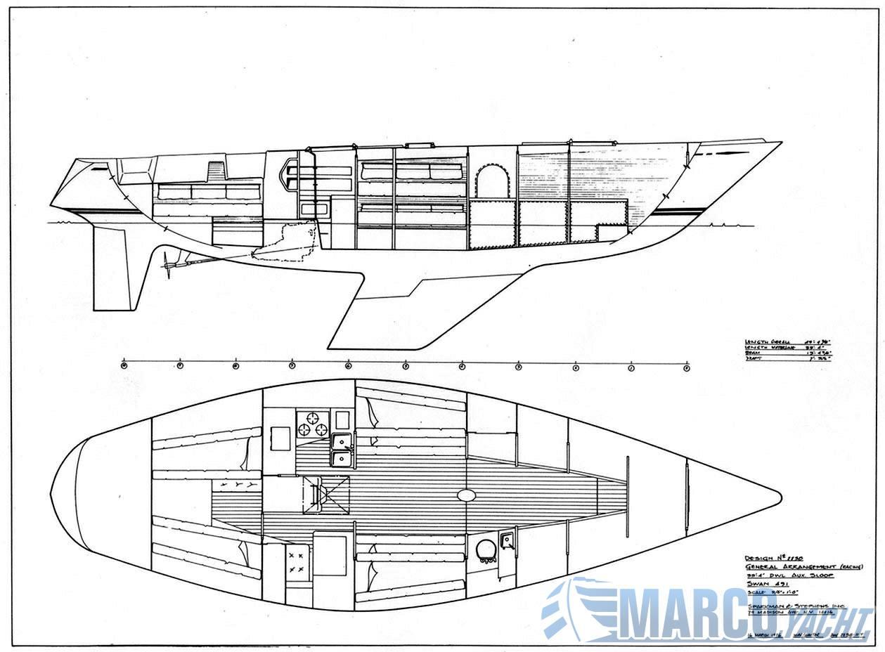 Nautor Swan 431 sailing boat