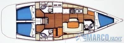 Beneteau Cyclades 43.3 Sail cruiser used