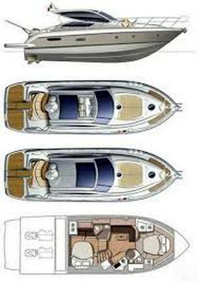 Cranchi 43 ht Barco a motor usado para venda