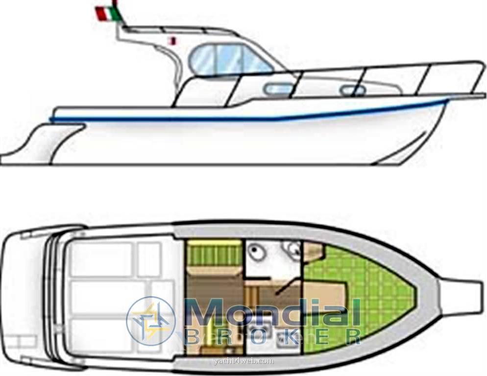Ala blu Proteo 28 Barca a motore usata in vendita