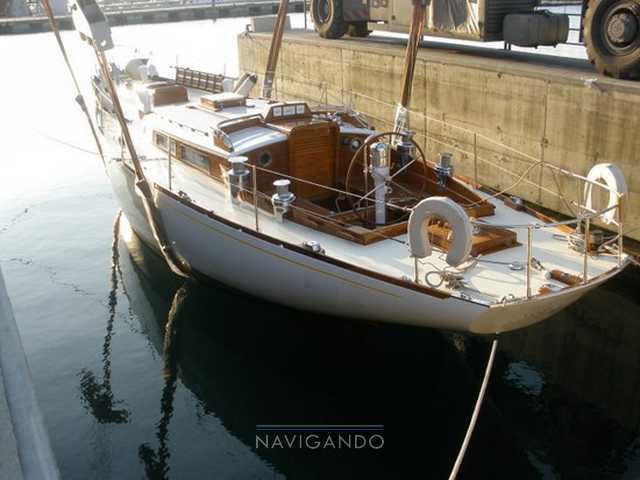 Mc-gruer-sparkman-stephens Sloop -cutter barca d'epoca