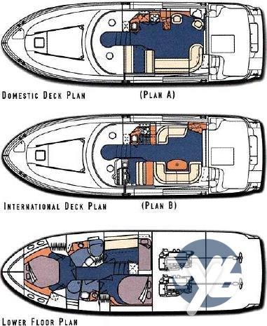 Sea Ray Boats 480 sedan bridge Drawing