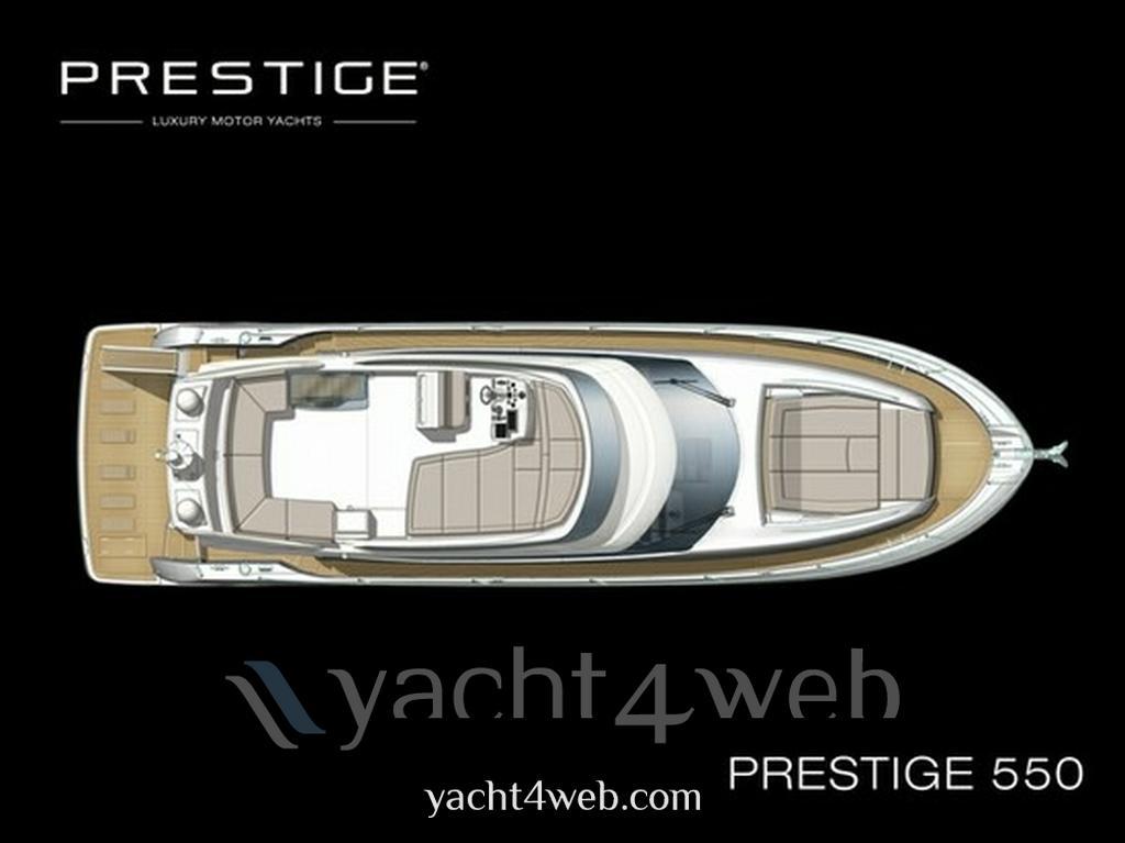 Prestige 550 fly motor boat
