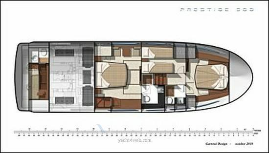 Prestige 500 fly motor boat